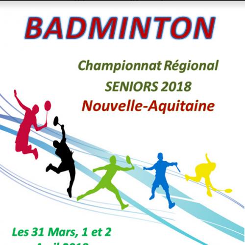 Championnat Régional Séniors 2018 à Mornac 31/03, 1er et 2/04/2018