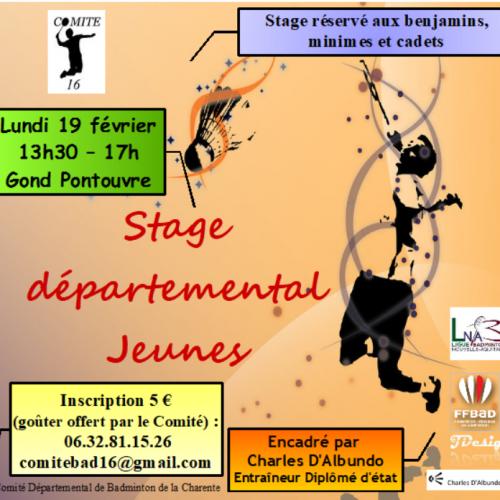 1er stage départemental Jeunes 2018 19/02/2018