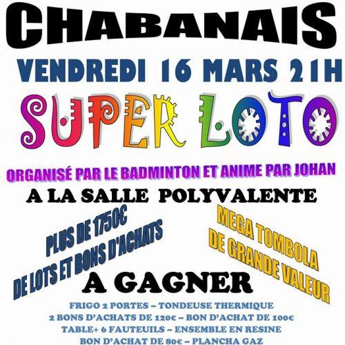 Loto de Chabanais 16/03/2018