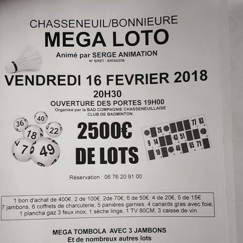 Loto de Chasseneuil 16/02/2018
